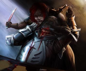 """""""The Bad Death of a Knight Commander"""" by Baaltas: https://baaltas.deviantart.com"""